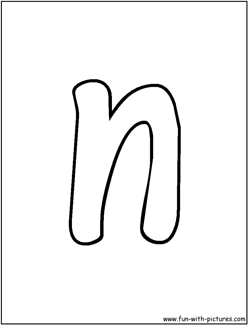Free activities letter n coloring pages