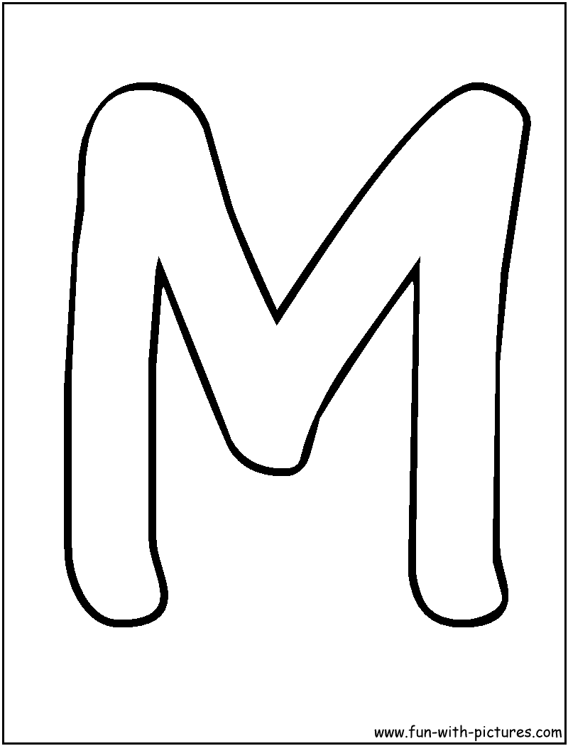 letters m coloring page