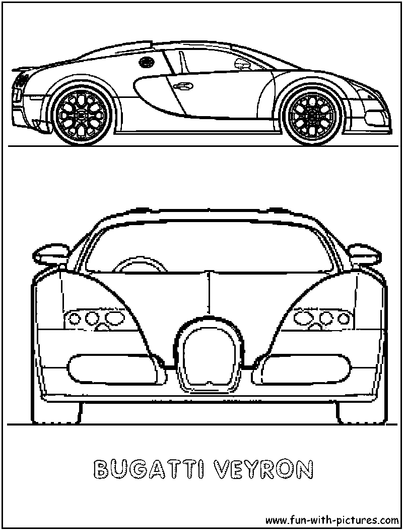 Veyron Coloring Page