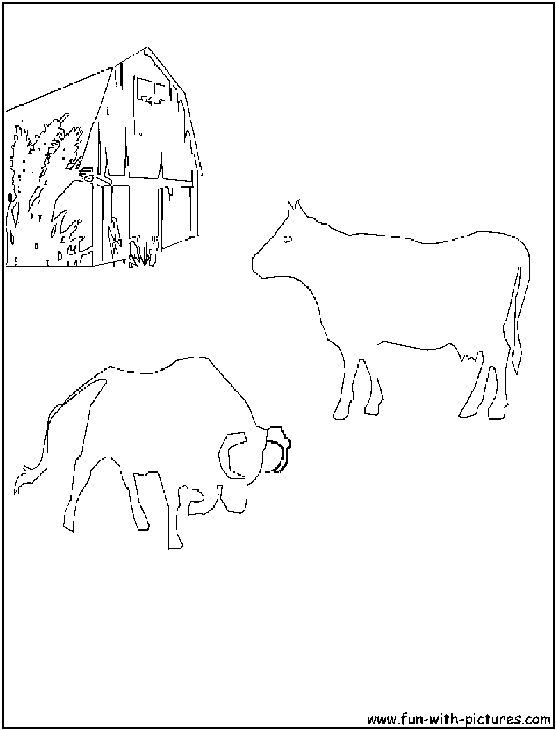 Coloring page of a barnyard - Bull Cow Coloring Page Barnyard Goat Coloring Page