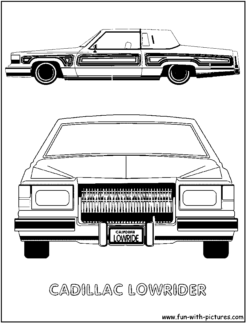 Cadillac Lowrider Coloring Page