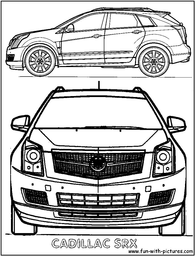 Coloring Page Cadillac Eldorado Sketch Coloring Page