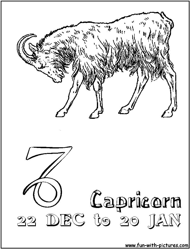 Free printable zodiac coloring pages - Zodiac Coloring Pages Free Printable Colouring Pages For Kids To Print And Color In