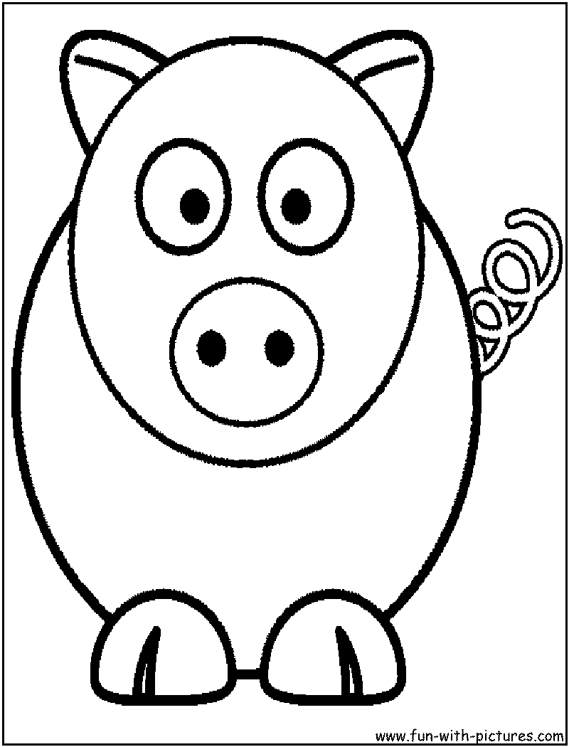 Cartoon Animal Picture Coloring Page6