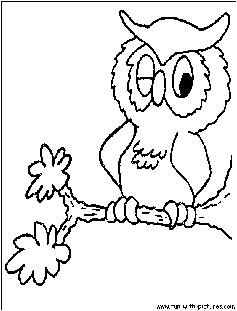cartoon owls coloring pages - photo#24