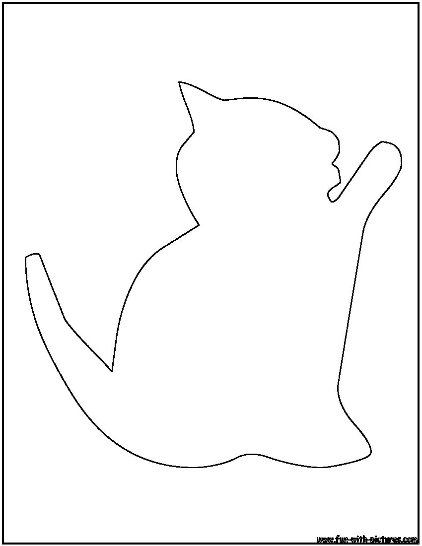 Cat Outline Coloring Page Outline Pictures For Coloring