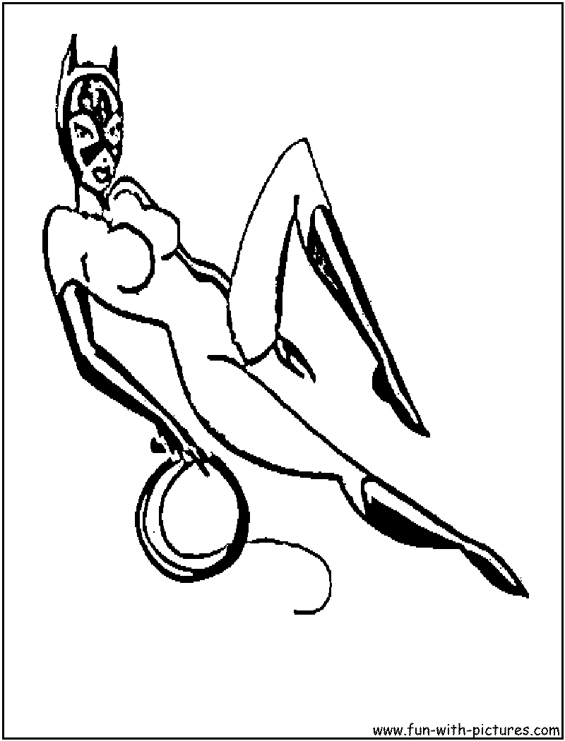 The catwomen colouring pages for Catwoman printable coloring pages
