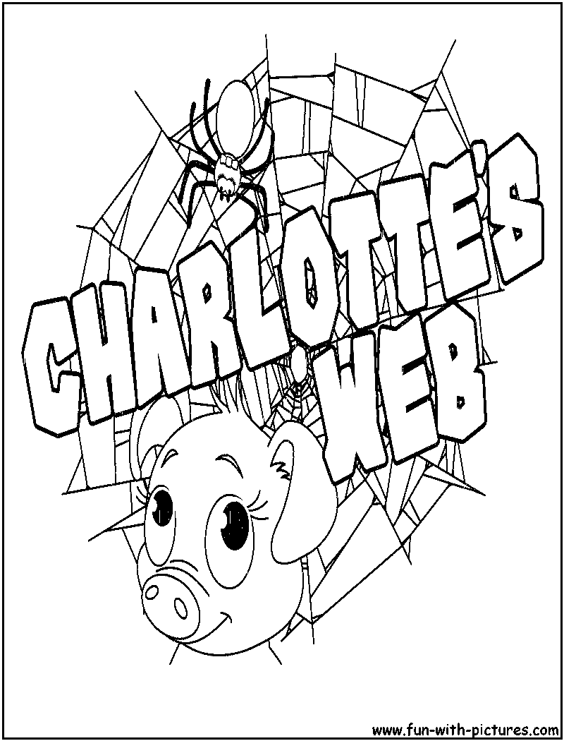 cbd uk charlottes web coloring pages | Charlottes Web - Free Colouring Pages
