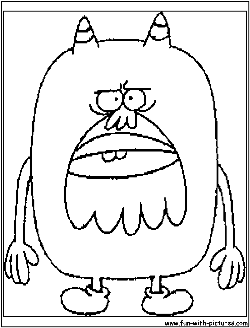 flapjack and chowder coloring pages - photo#17