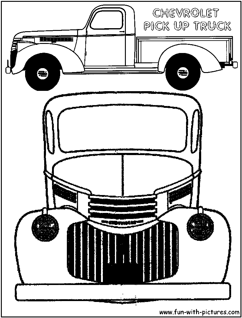 Fun With Pictures   image Files chevy Pickup Truck Coloring Page on 1957 ford engine colors