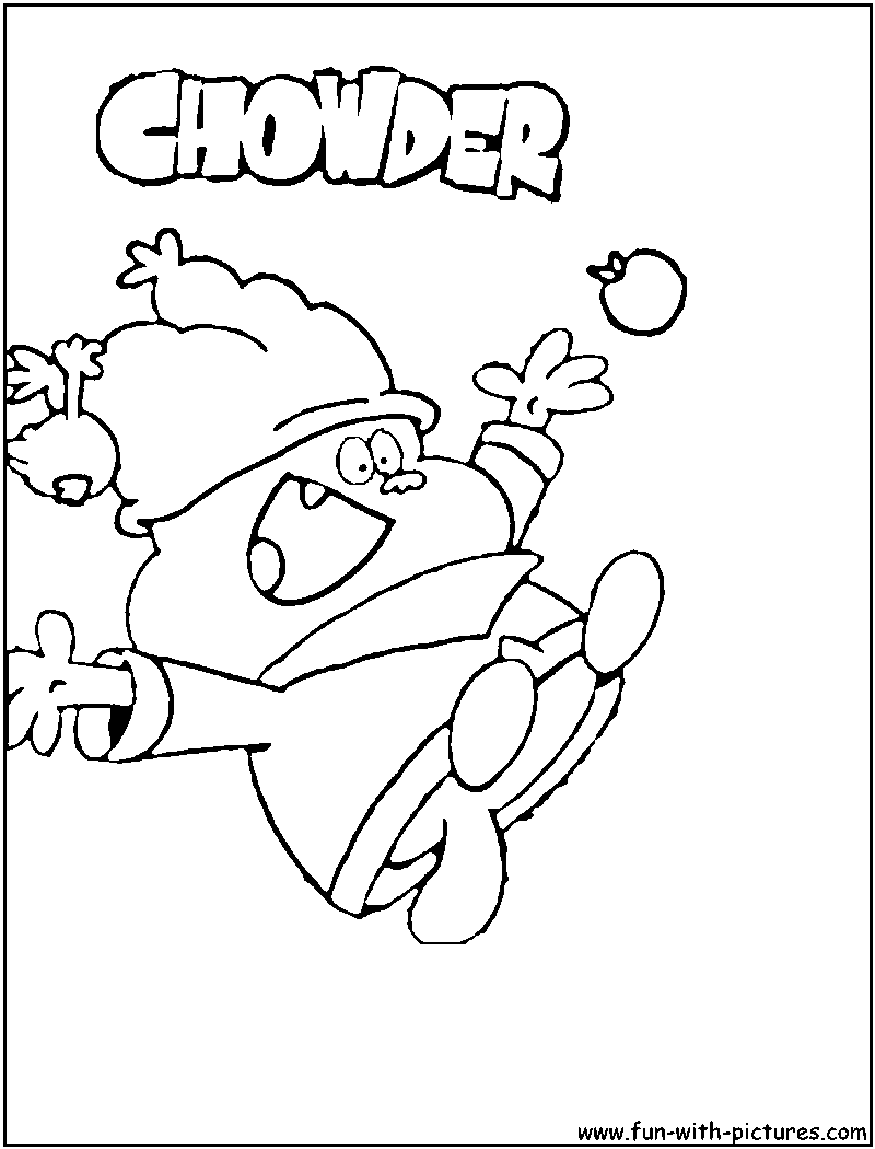 chowder cartoon coloring pages - photo#6