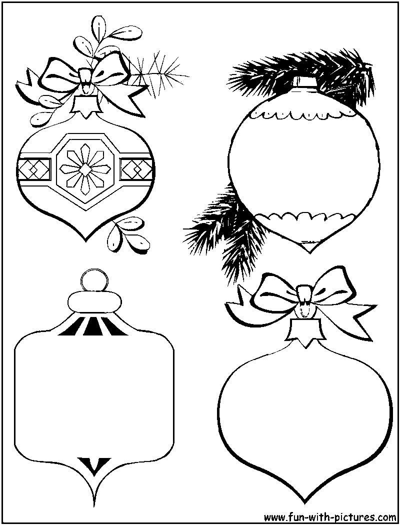 coloring pages christmas baubles hanging - photo#11