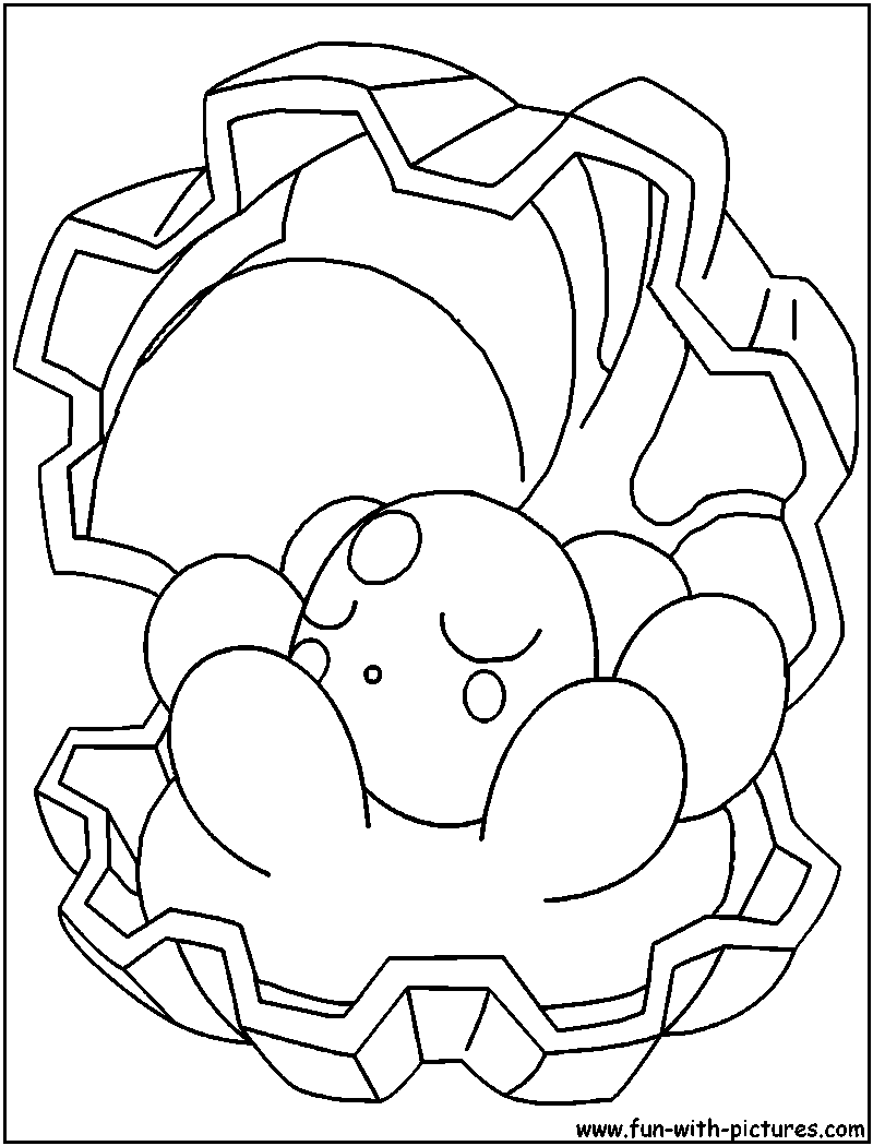 Clam With Pearl Coloring Pages Coloring Pages