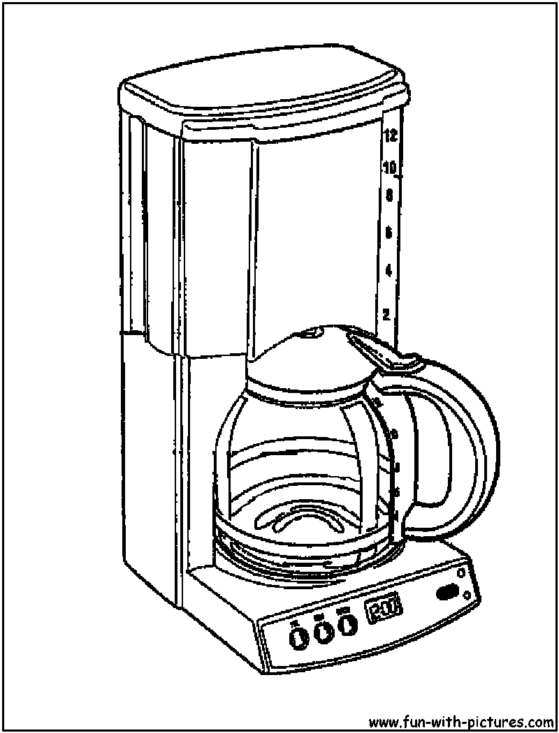 Free coloring pages utensils