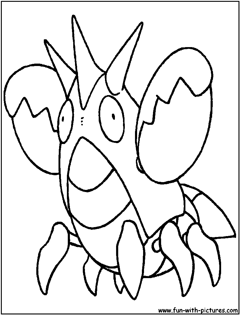 pokemon corphish coloring pages - photo#5