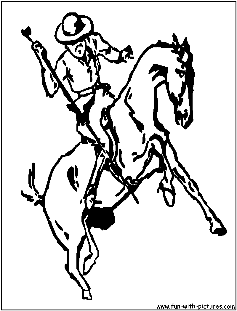 Cowboy Coloring Pages - Free Printable Colouring Pages for kids to ...