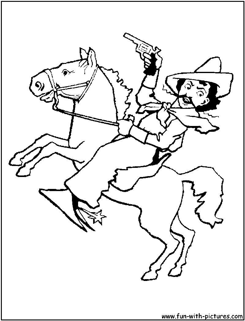 Cowgirl And Horse Coloring Page Putting Saddle To Her