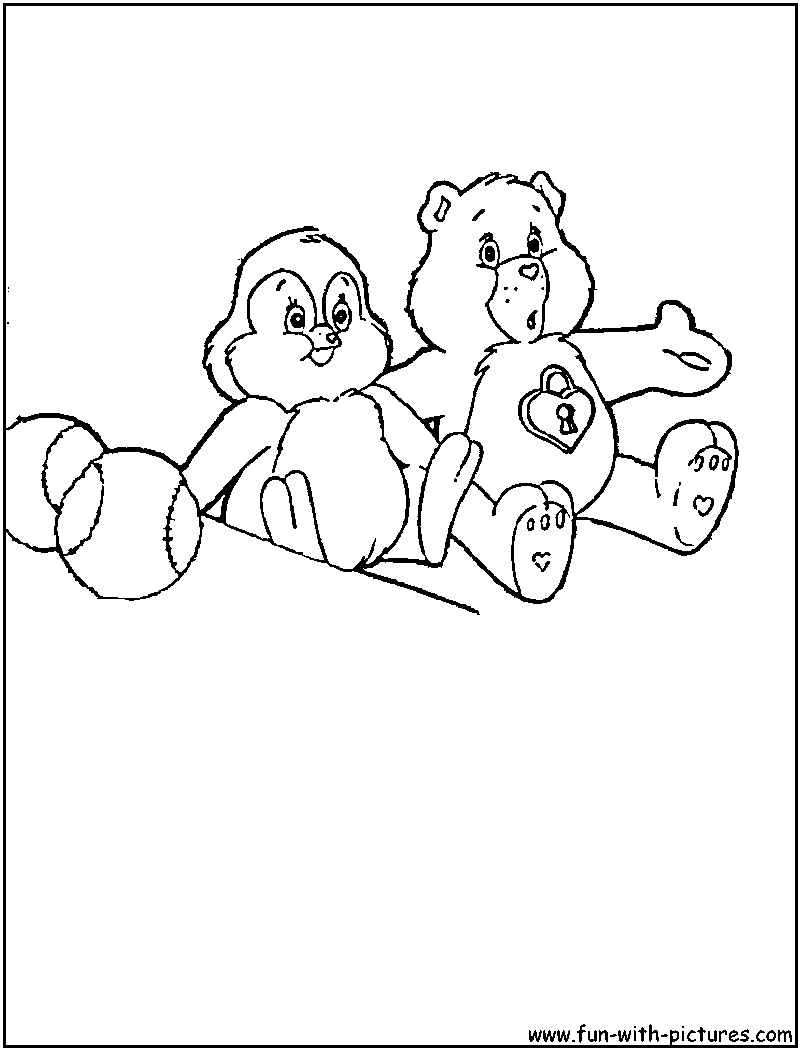 care bear cousins pages coloring pages Heart Care Bear Coloring Pages  Care Bear Cousins Coloring Pages