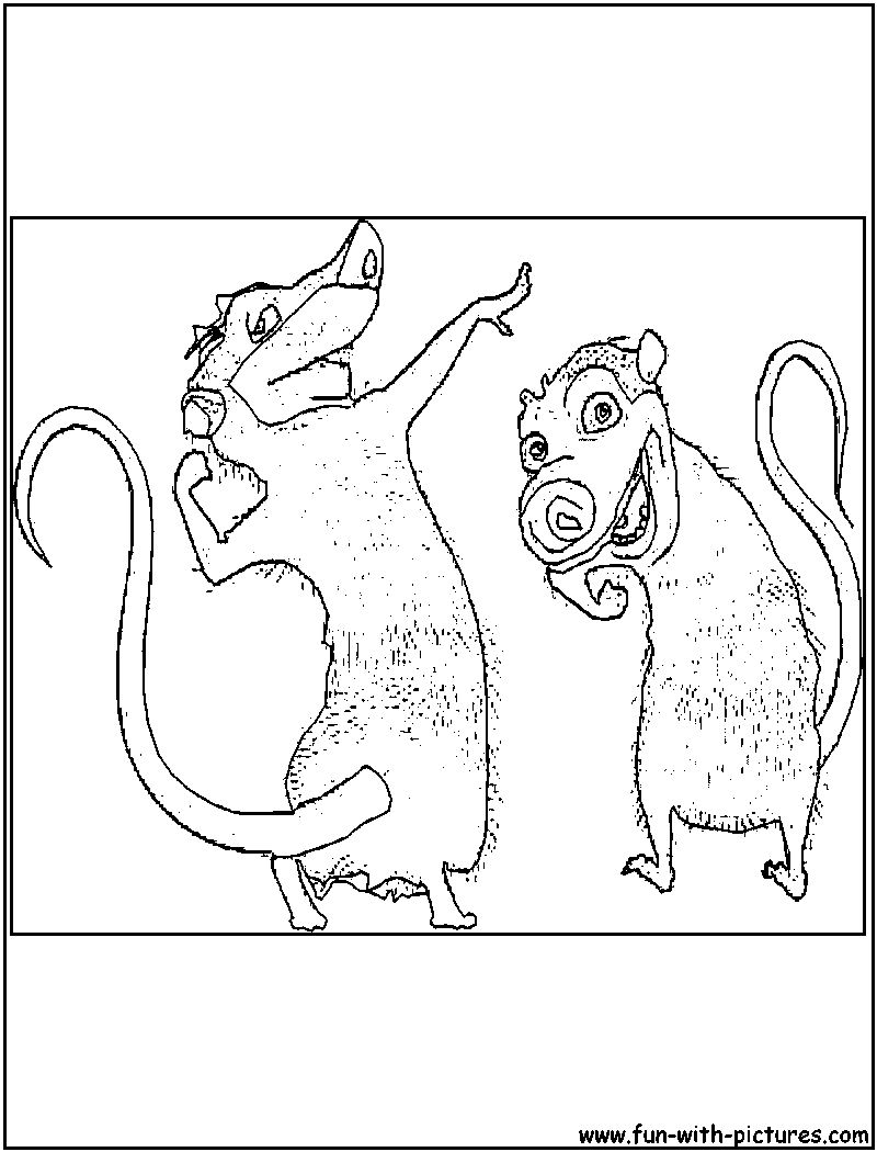 Colouring pages ice age - Crash And Eddie Iceage Coloring Page