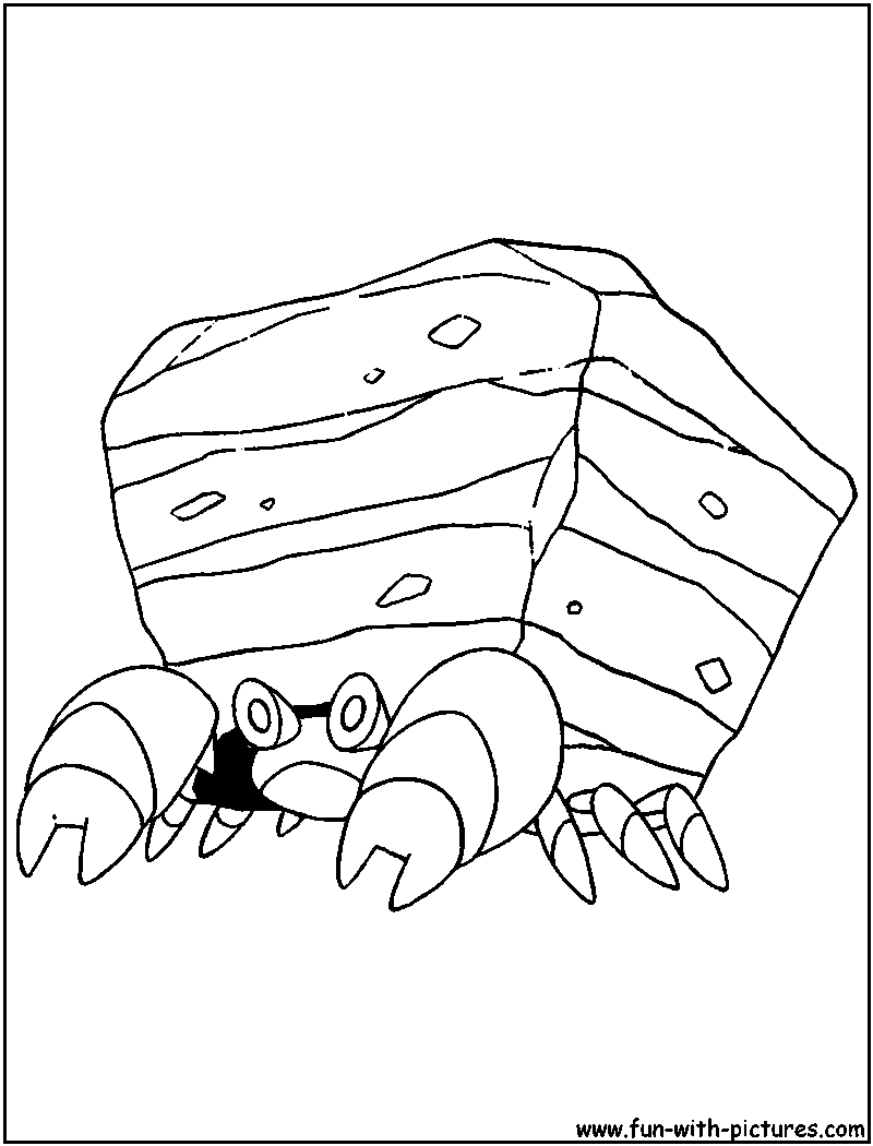 Pokemon coloring pages ariados - Crustle Coloring Page