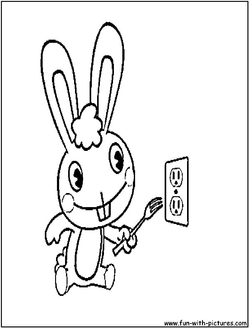 nutty happy tree friends Colouring Pages