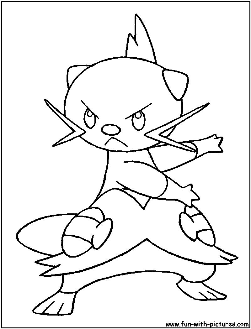 Pokemon coloring pages dewott - Dewott Coloring Page
