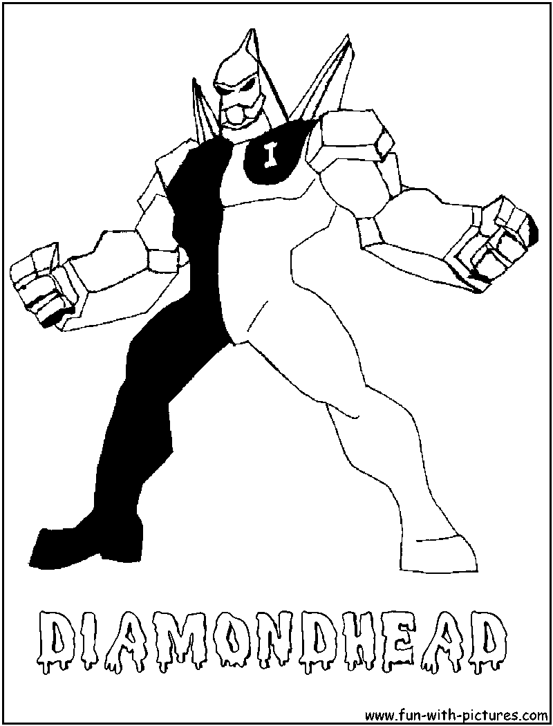 diamond head coloring pages - photo#6