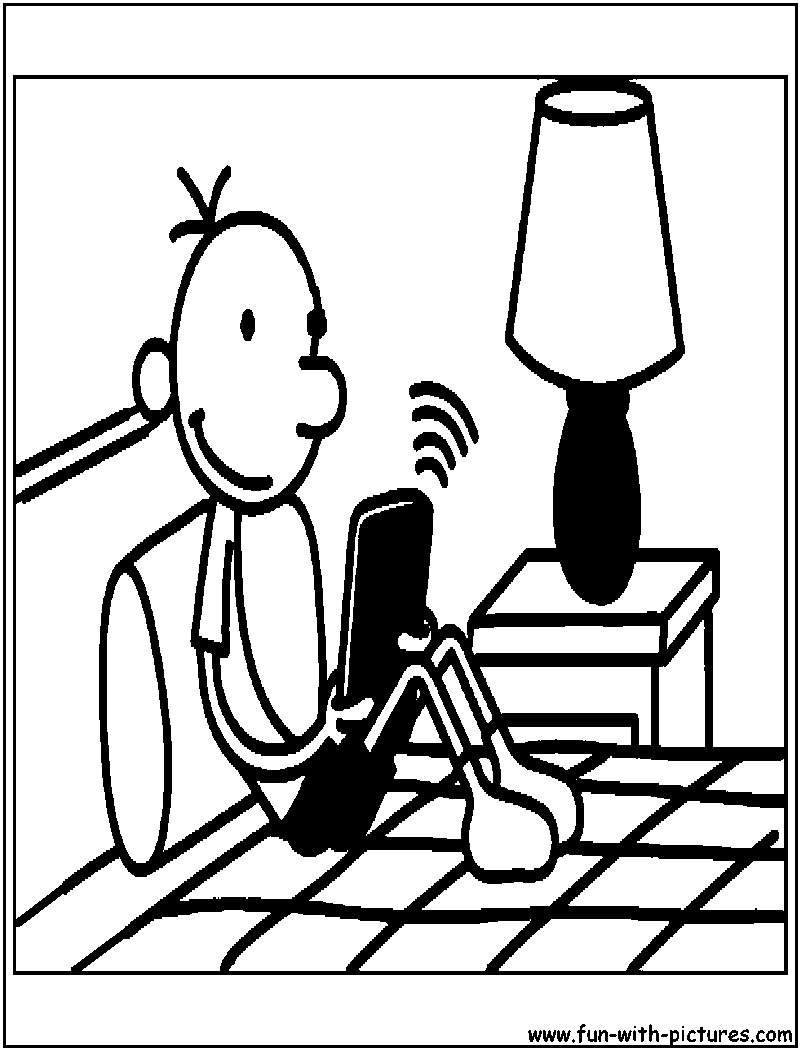 Ausmalbilder f r kinder malvorlagen und malbuch for Wimpy kid coloring pages
