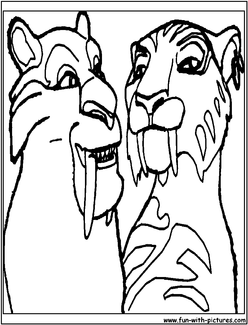 Shira Iceage Coloring Page