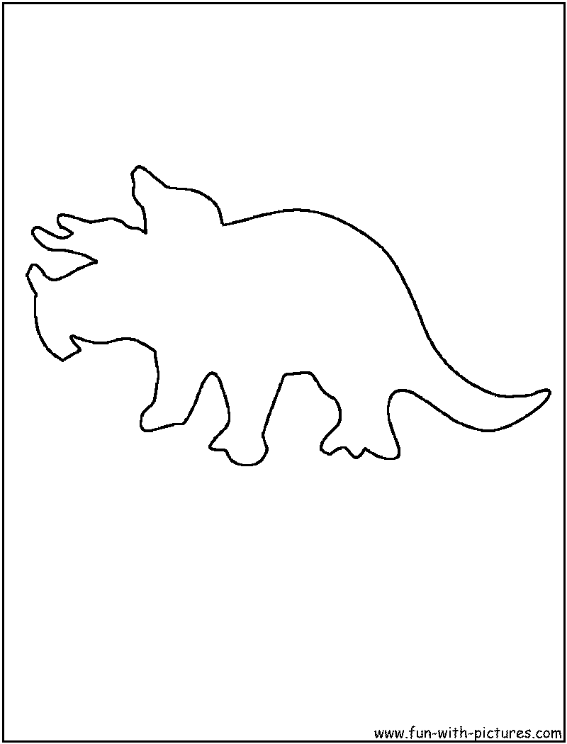 dinosaur outline coloring page1