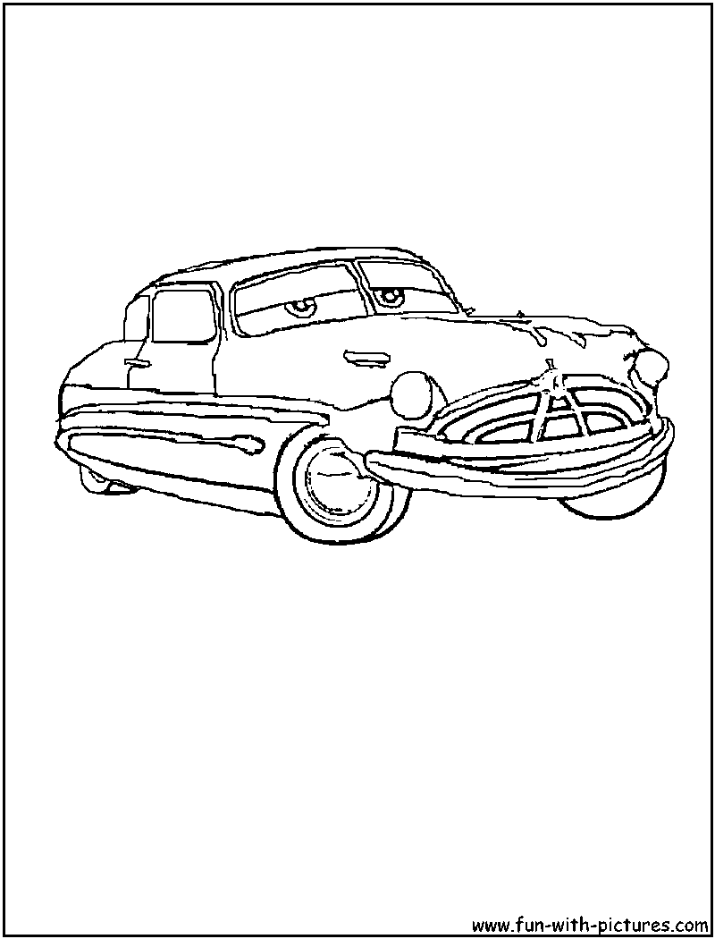 cars hudson coloring page