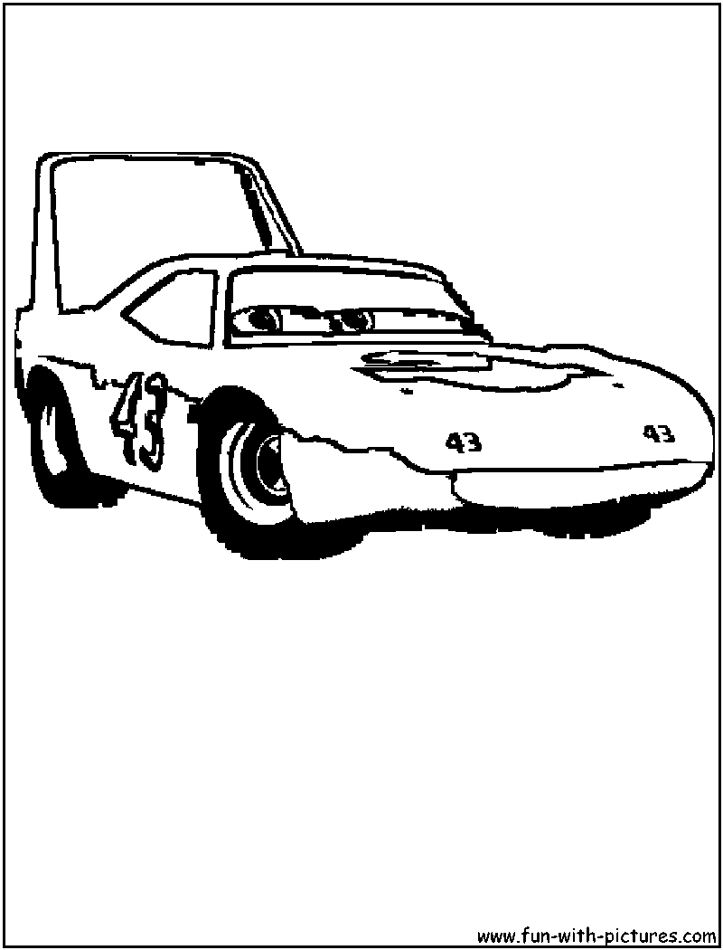 cars king coloring page