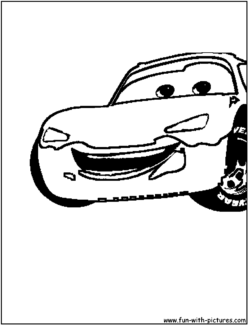 Disney Cars Mcqueen Coloring Page