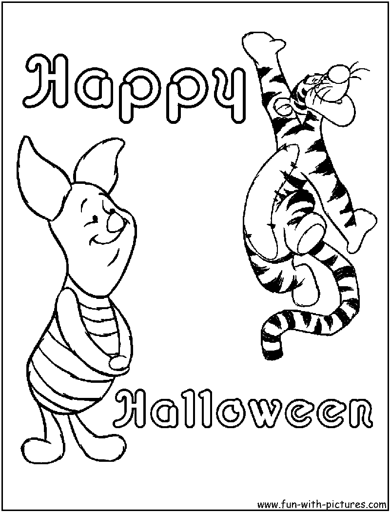 disney halloween coloring pages - free printable colouring pages for