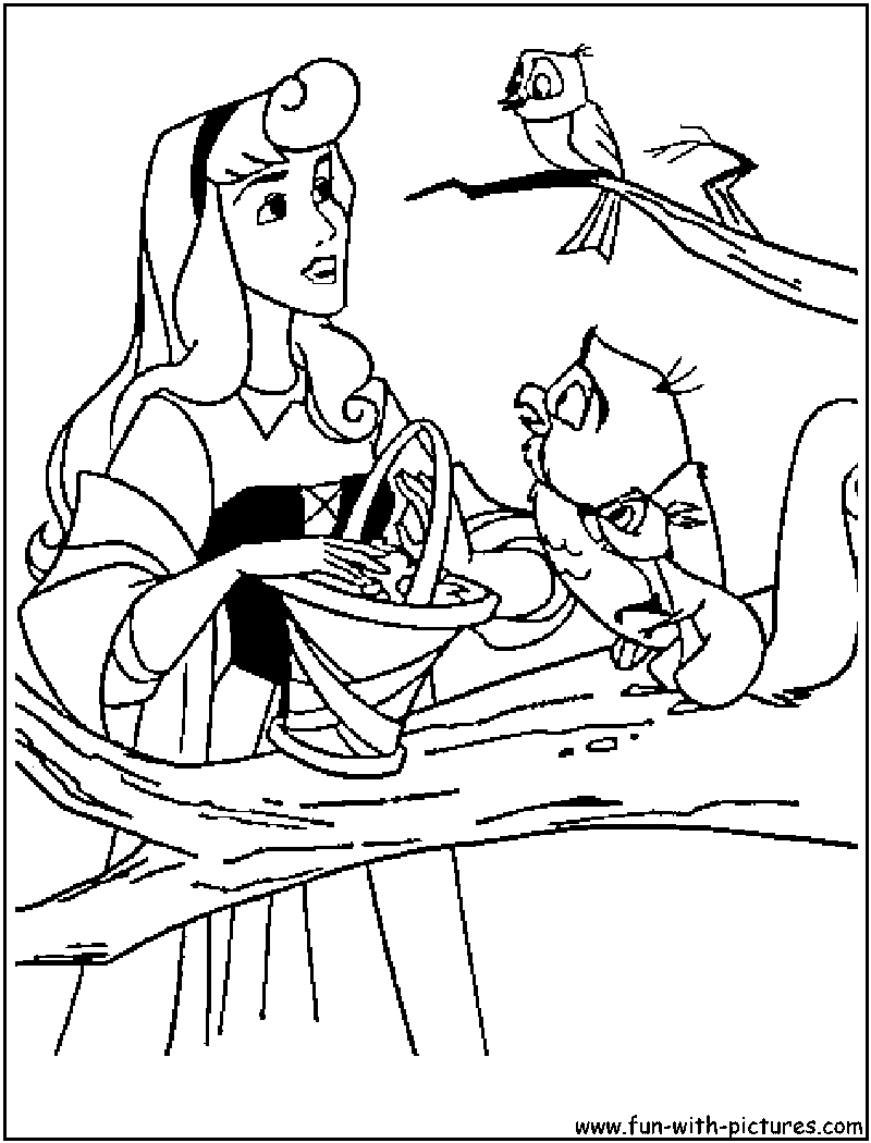 Coloring Pages Of Princess Aurora