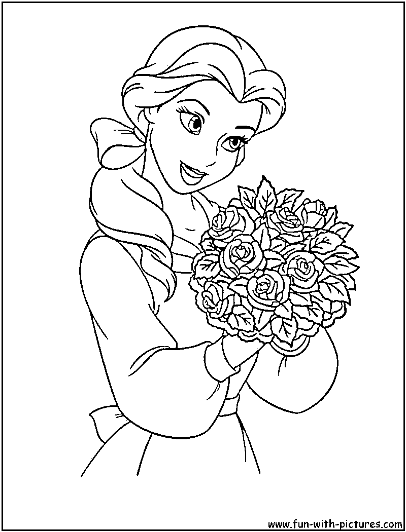Disneyprincess Belle Coloring Page