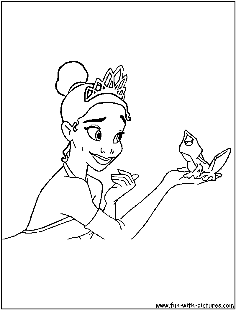 tiana coloring page