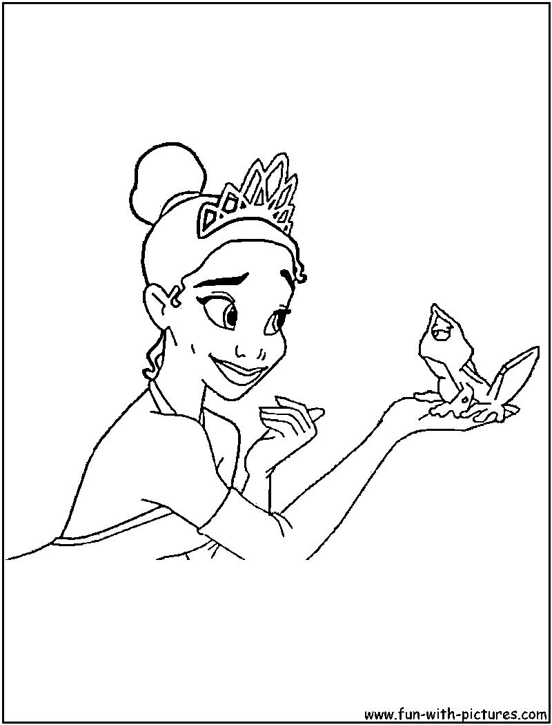 Disney princess coloring pages tiana - Disneyprincess Tiana Coloring Page