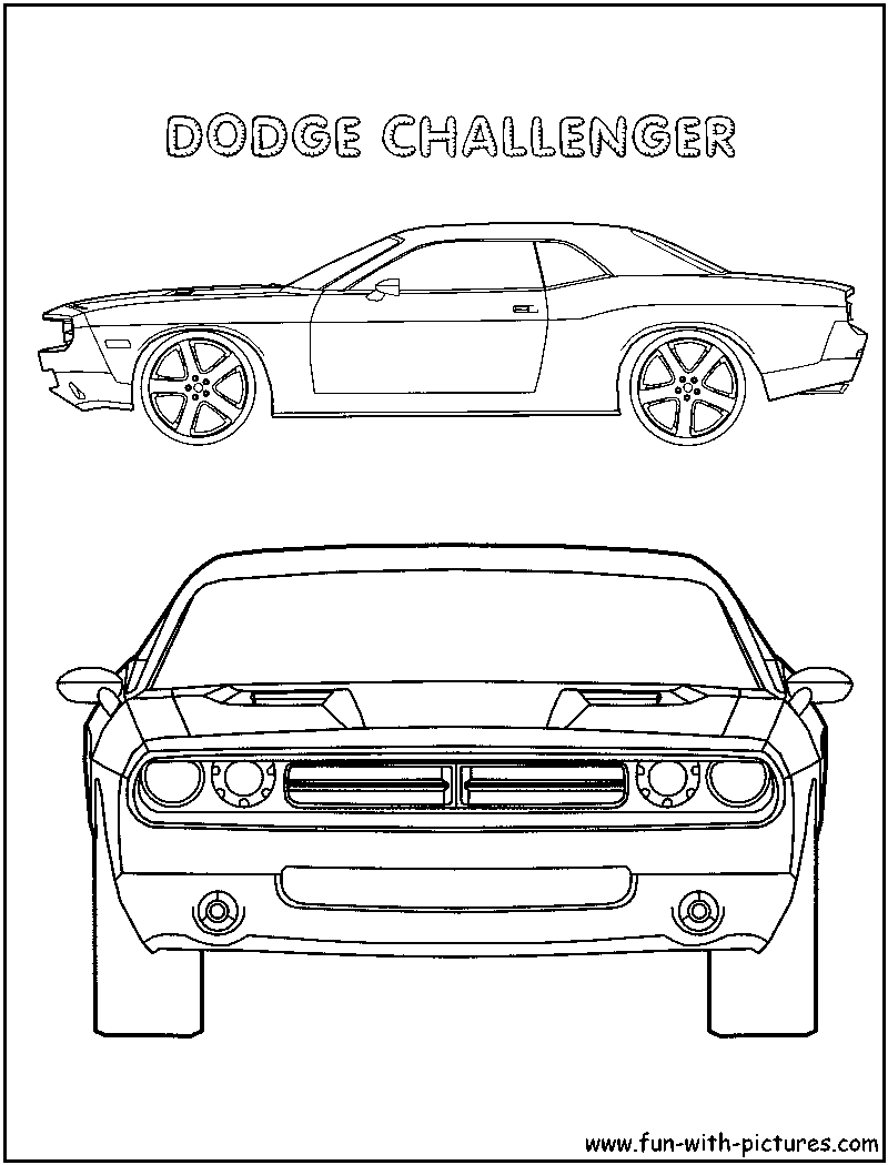 Dodge Challenger Coloring Page Of Car