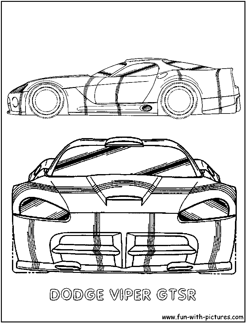 Dodge viper free colouring pages for Dodge coloring pages