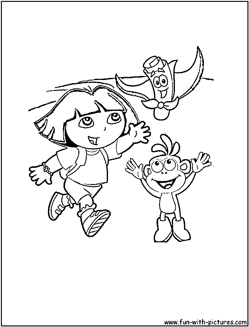 coloring pages dora map - photo#2