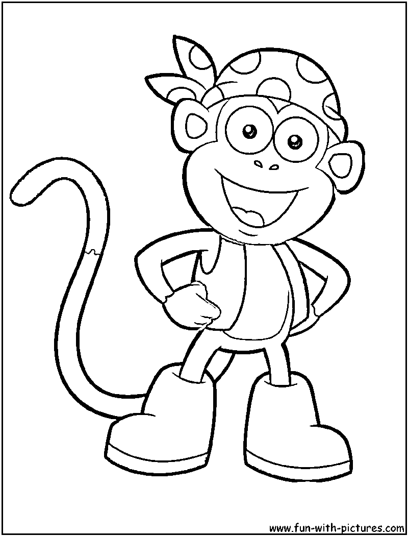 Coloring Pages Dora Explorer