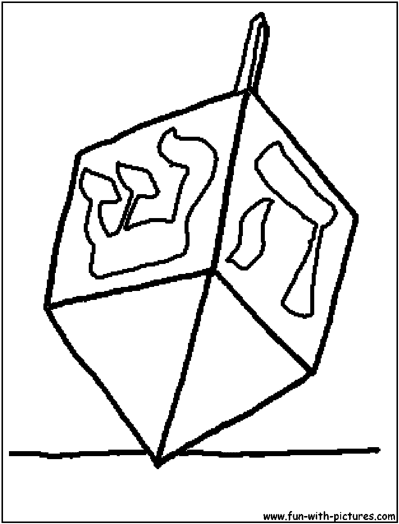 Dreidel Coloring Page Printable Pages Sketch Coloring Page Dreidel Coloring Page