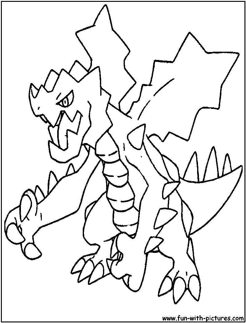 Pokemon coloring pages haxorus - Druddigon Coloring Page