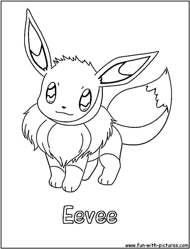 eevee colouring pages