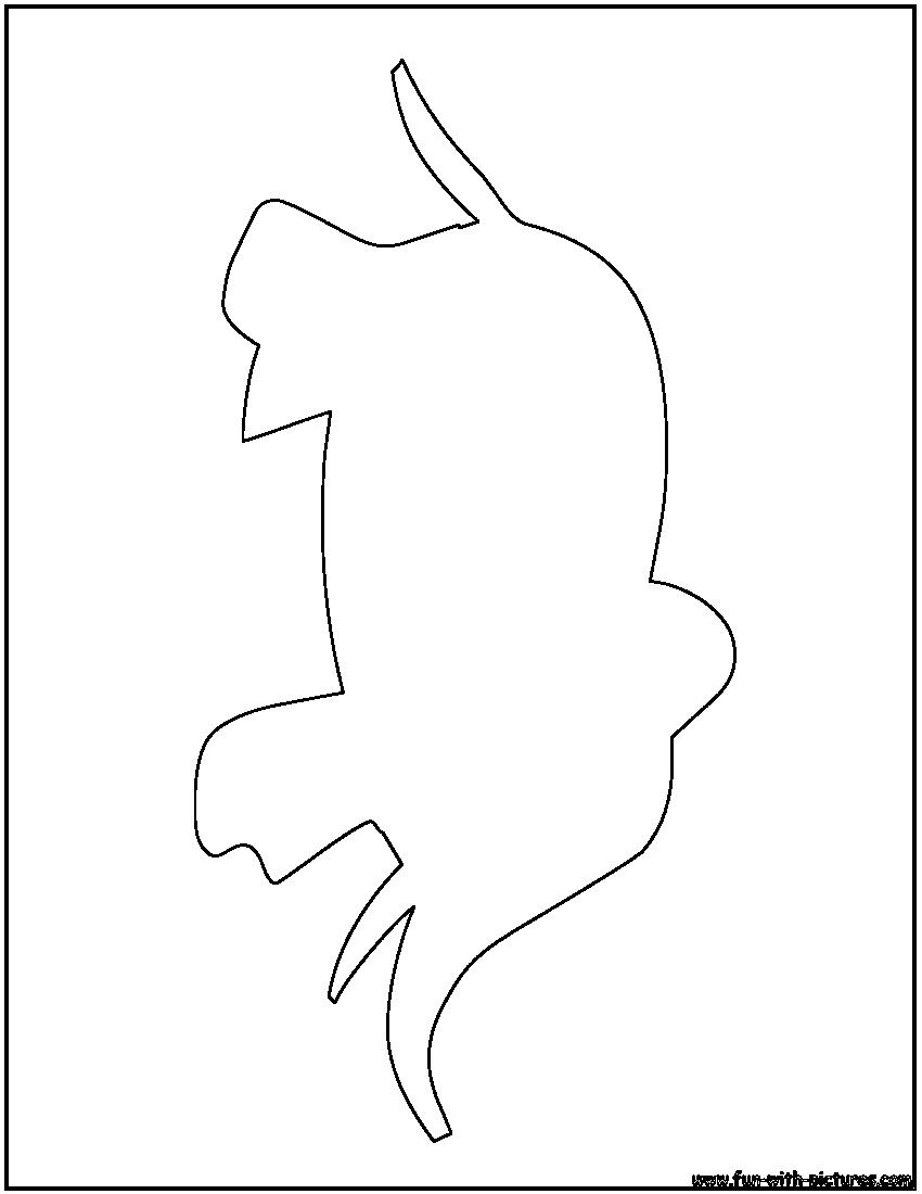 Elephant Cartoon Outline Elephant Outline Color
