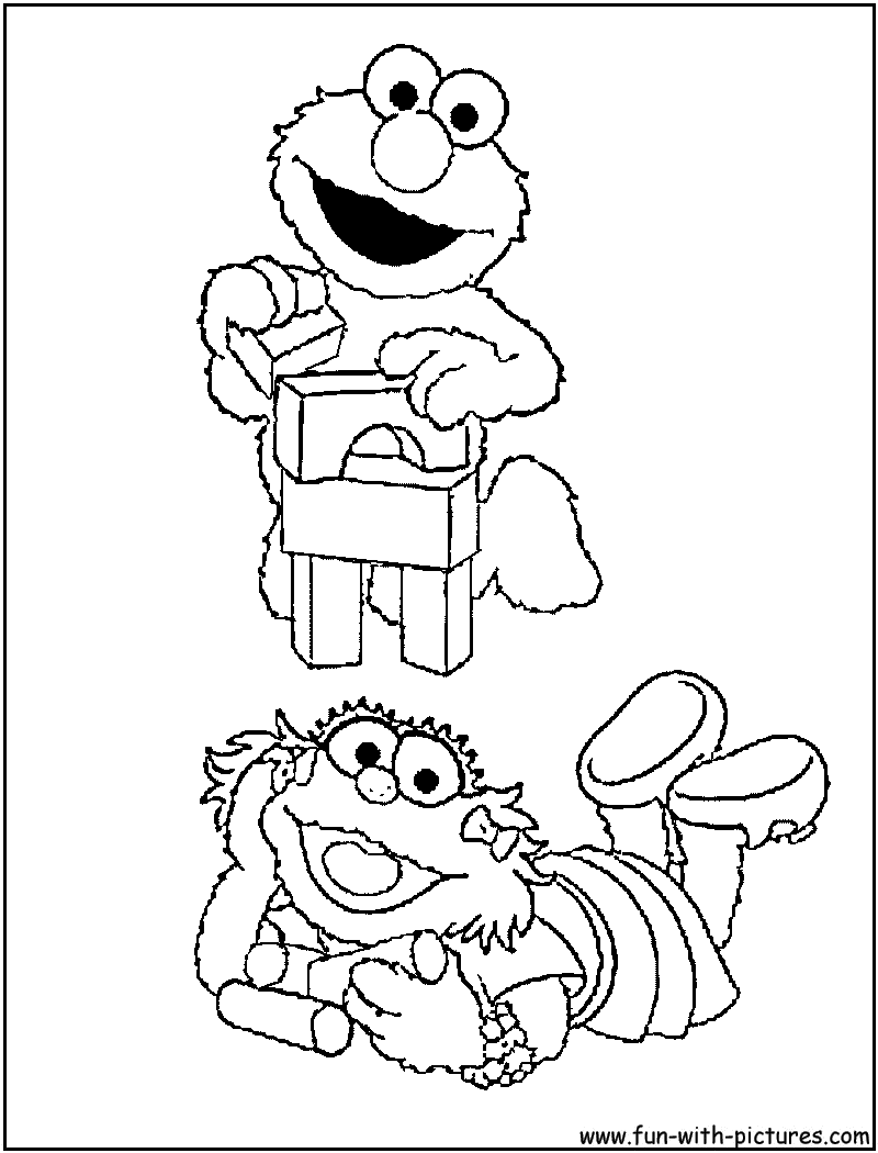 Elmo coloring activities - Elmo Zoe Coloring Page