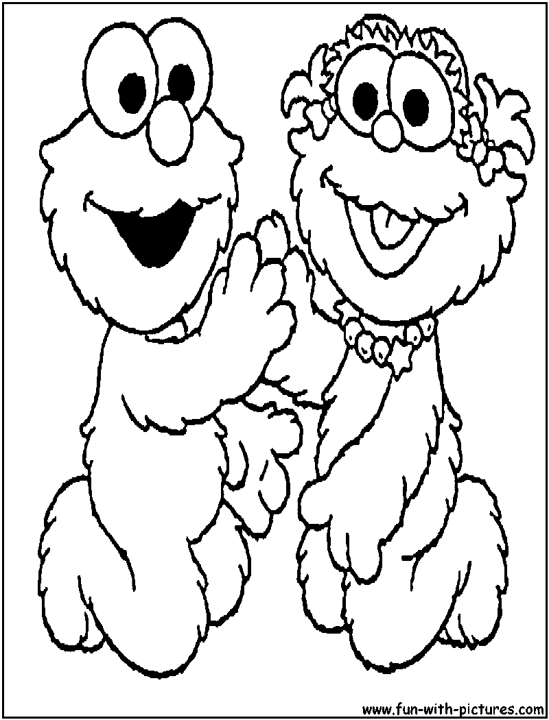 Sesame Street Coloring Pages Free Printable Colouring Pages for