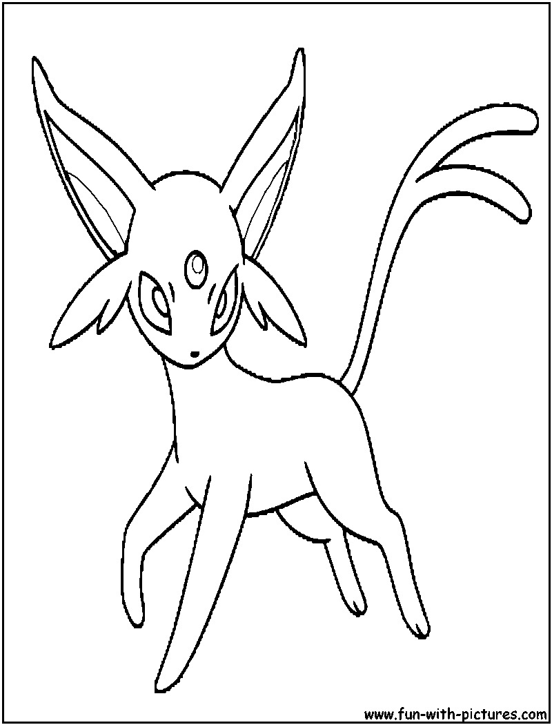 espeon pokemon coloring pages - photo#21