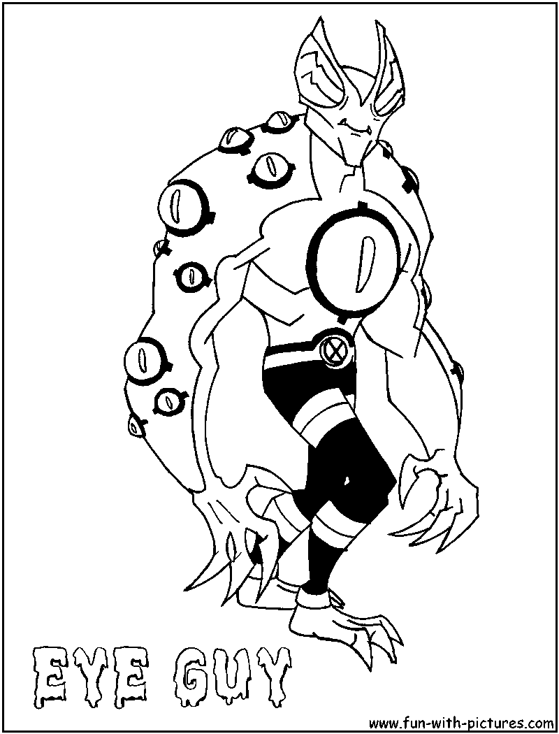 ben 10 coloring pages goop - photo#12